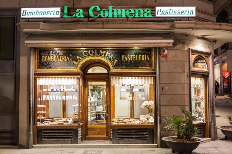 Bomboneria-Pasteleria, La Colmena. Ciutat Vella, Barcelona.