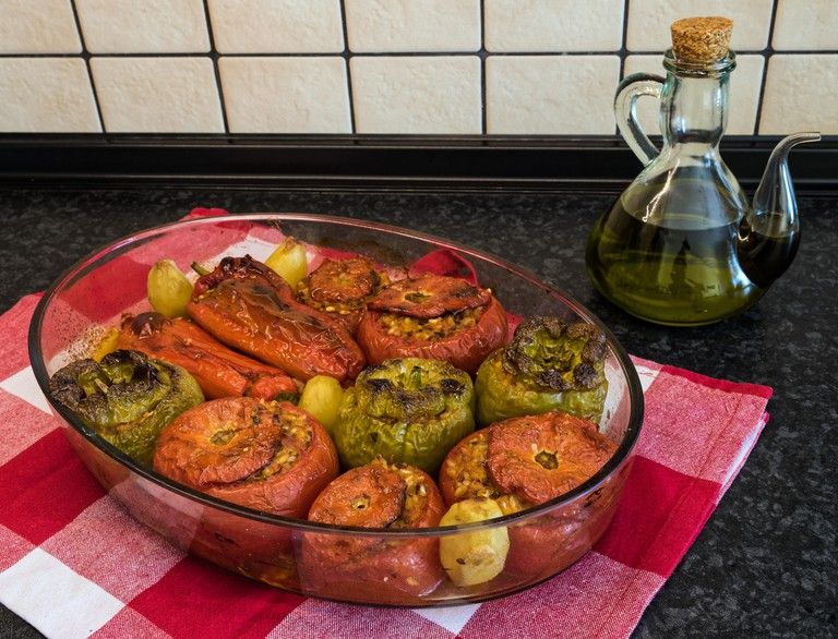 Gemista, stuffed tomatoes and peppers