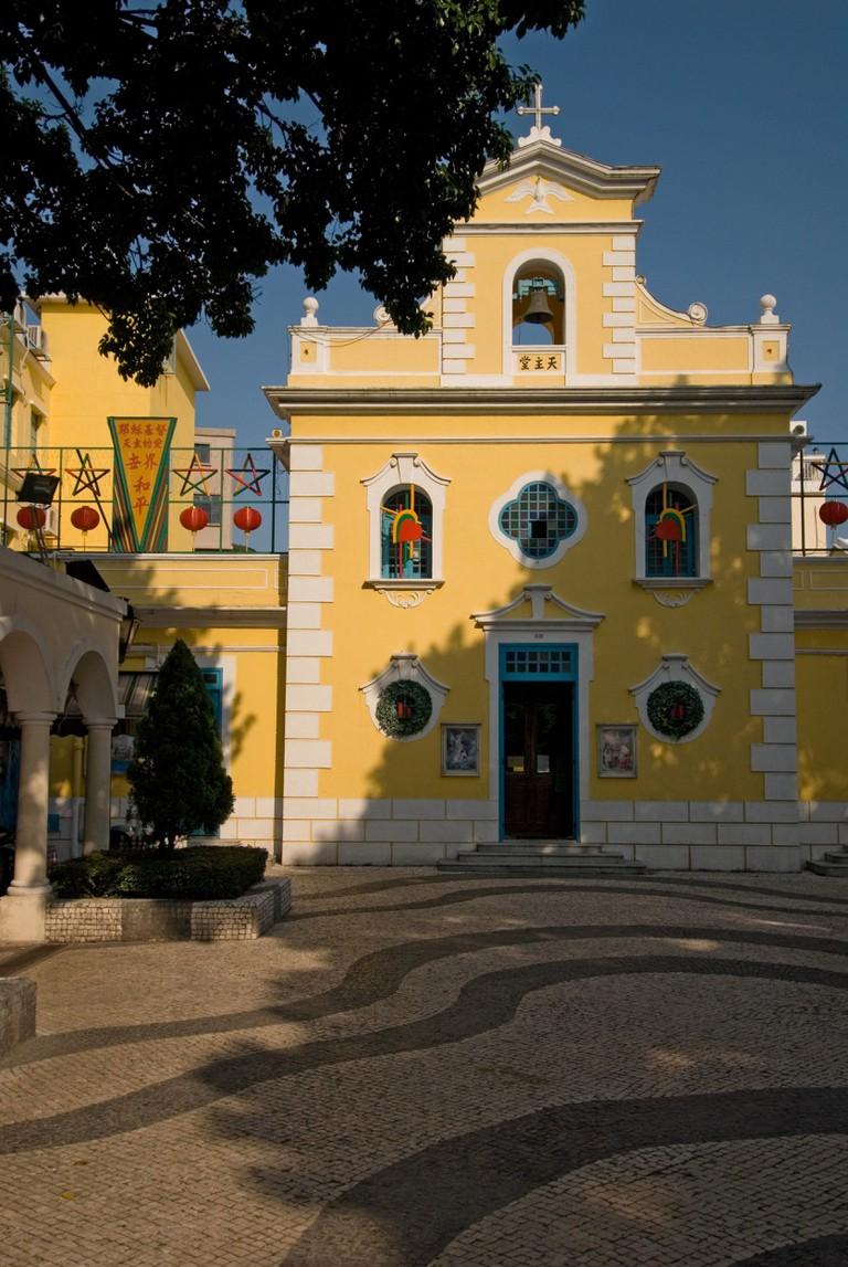 The Chapel of St. Francis Xavier at Eduardo Marques Square, Macau.