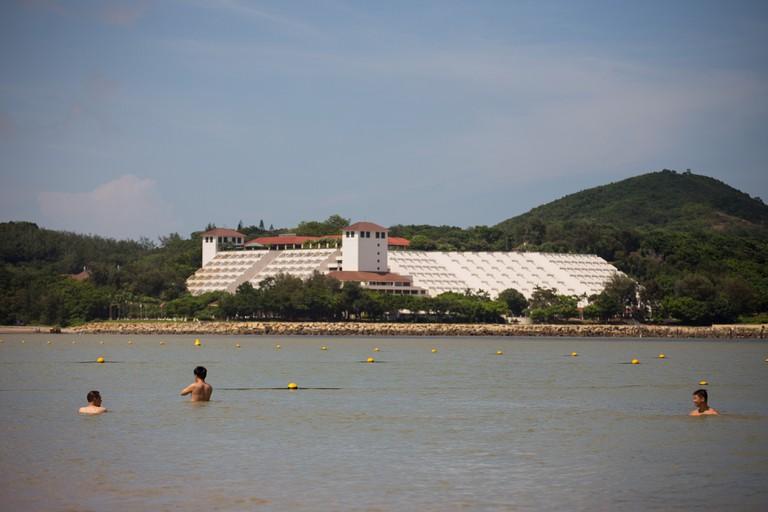 Hac Sa beach in the Long Chao Kok area of Macau, China.