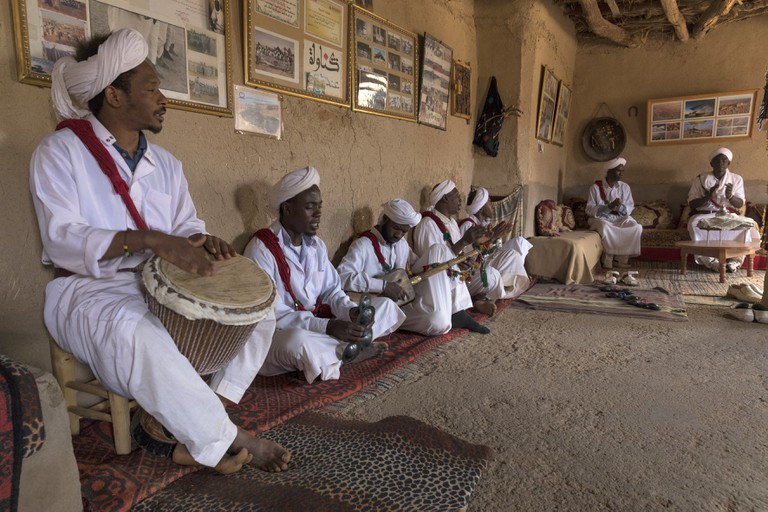 Gnawa Group in Khamlia, Sahara