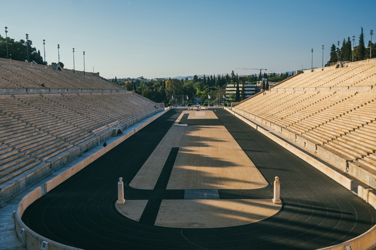 Panathenaic Stadium held the first modern Olympic Games in 1896