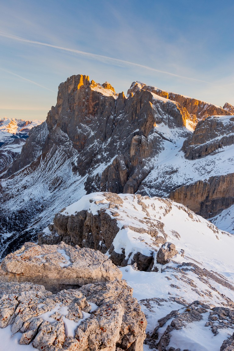 The Pale di San Martino massif. The Dolomites