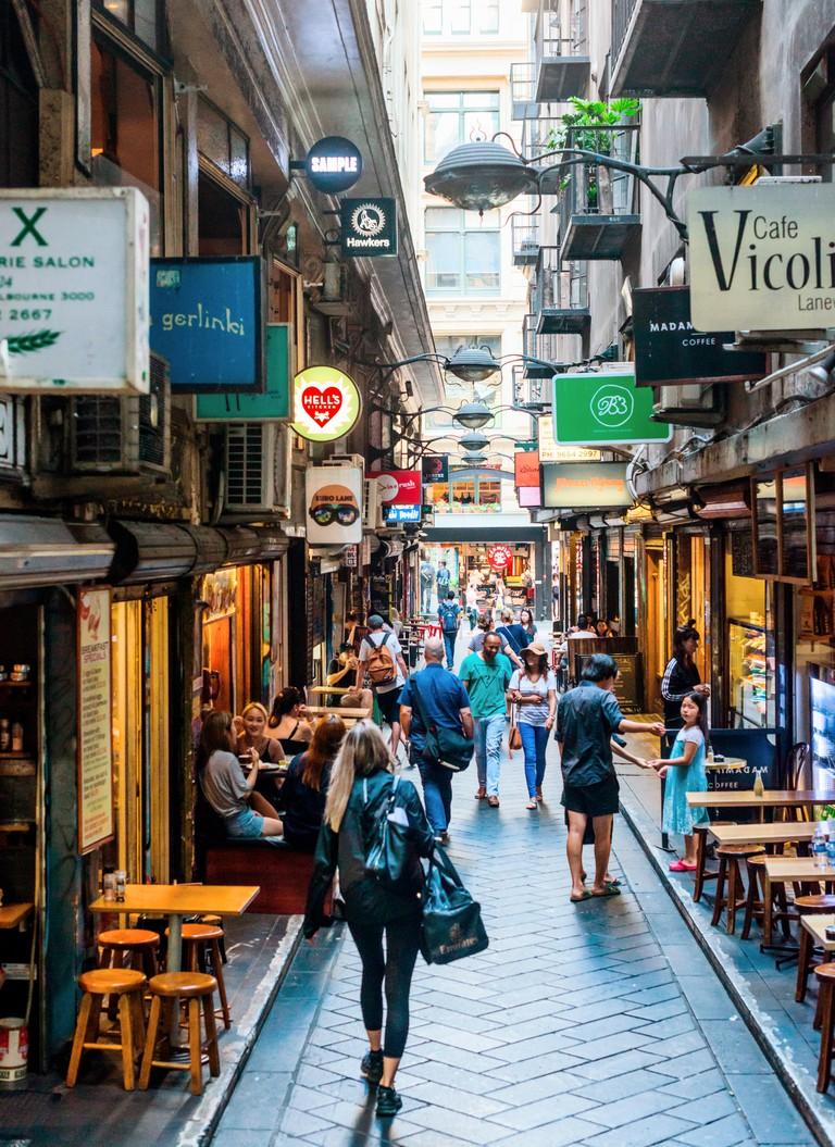 Centre Place Laneway, Melbourne, Victoria, Australia.