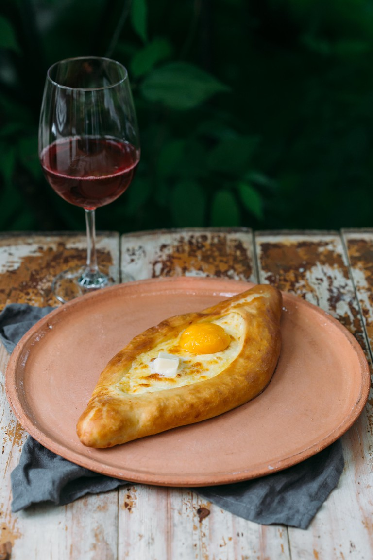 Traditional Georgian khachapuri