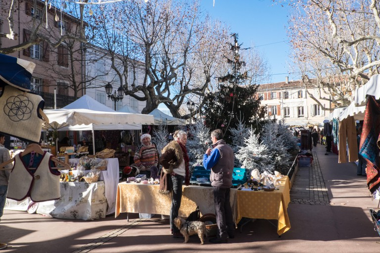 Christmas market in Esperaza, South of France