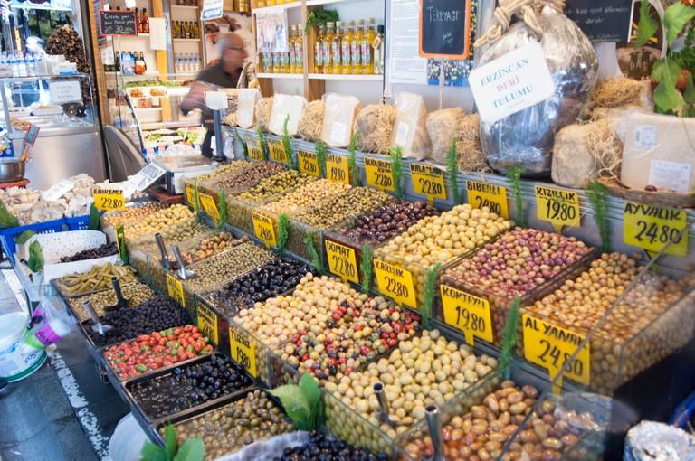 Olive stall, Kadikoy market, Istanbul