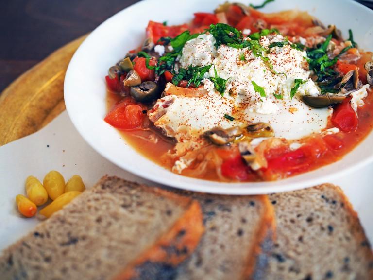 Shakshuka dish, Israel. Image shot 11/2017. Exact date unknown.
