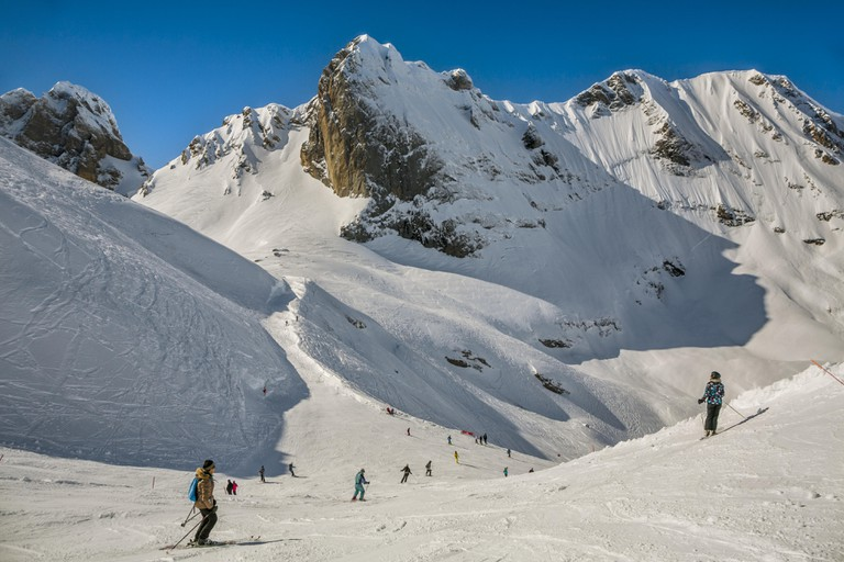 Gourette ski resort, Pyrenees Atlantiques, Aquitaine region, Ossau Valley