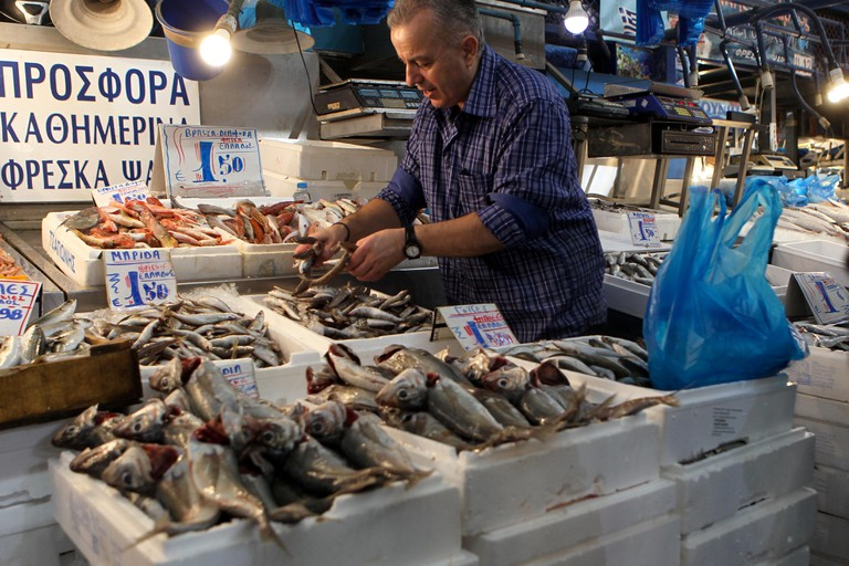 Fish market in the center of Athens