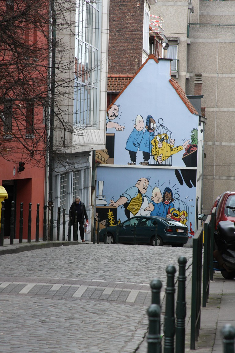 Comic-strip art is ubiquitous in Brussels