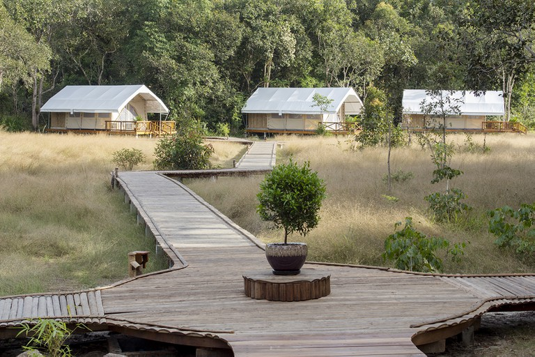 Exterior of Cardamom Tented Camp