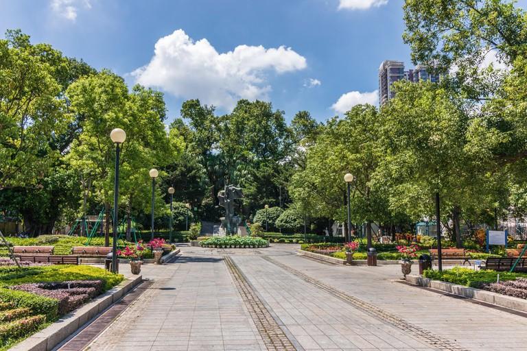 Camoes garden, Macao, China. Asia.