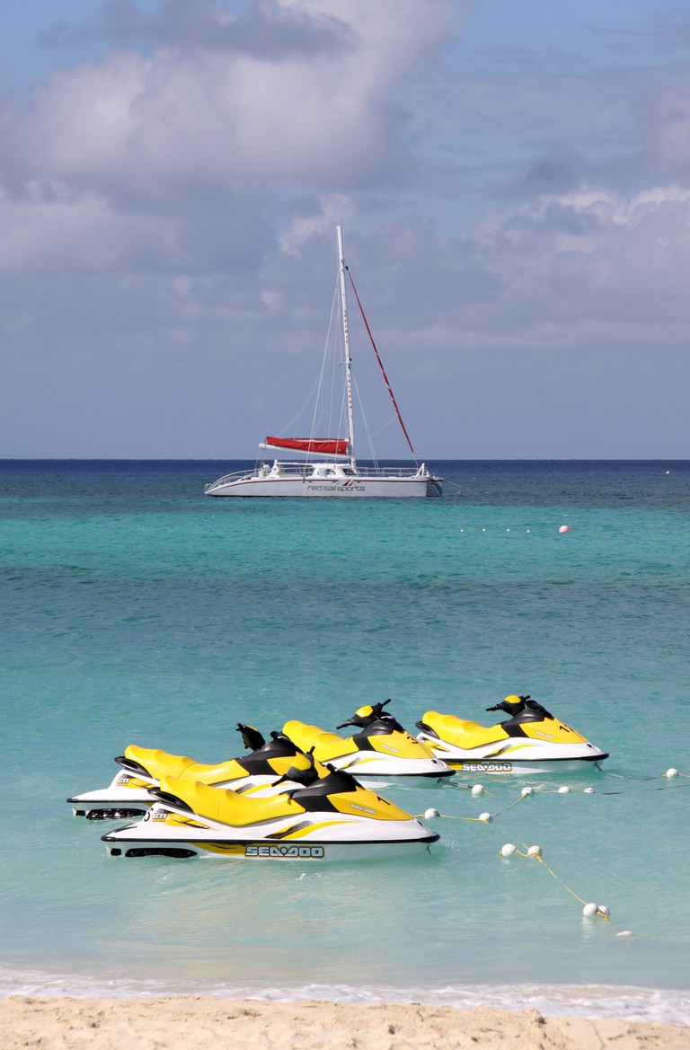 Jet skis in the Cayman Islands