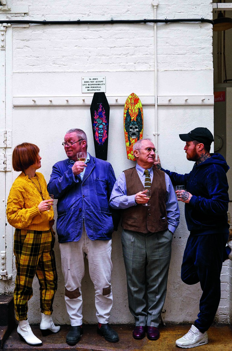 Kate Tiernan, Fergus Henderson, Trevor Gulliver (co-owner, St John) and Lee Teirnan.