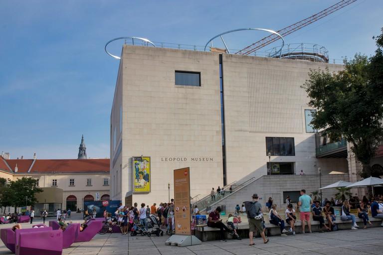 Viennese art pavilion and Mumok Museum, Museumsquartier