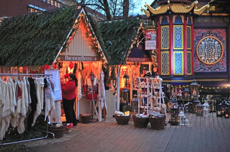 Copenhagen, Tivoli Christmas Market, Copenhagen, Denmark