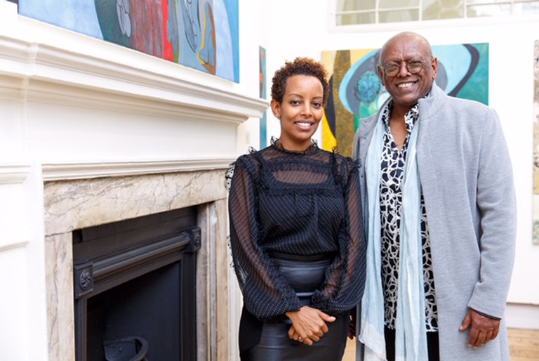 Addis Fine Art Founders Rakeb Sile and Mesai Haileleul