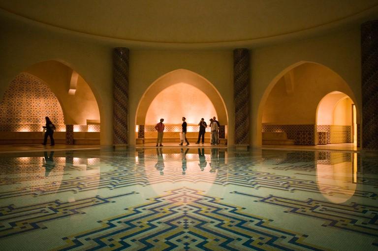 Interior of the Hammam, Morocco.