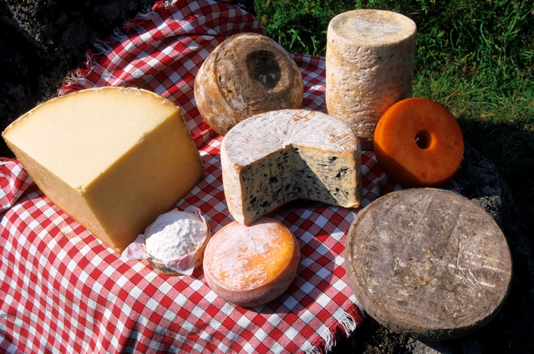 A selection of Auvergne cheeses