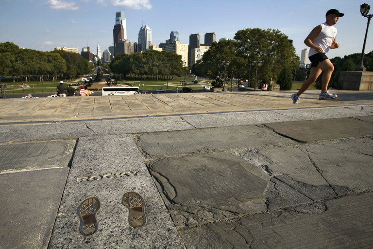Sylvester Stallone Footprints, The Rocky Steps