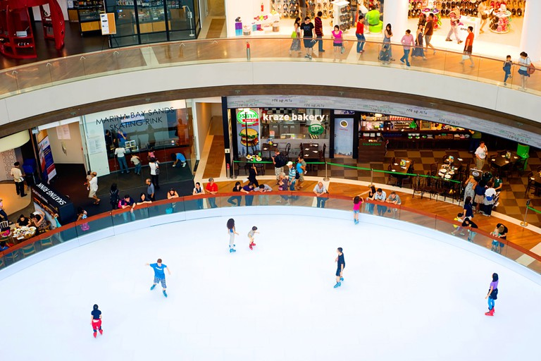 Ice  rink in a shopping centre at Marina Bay Sands Resort