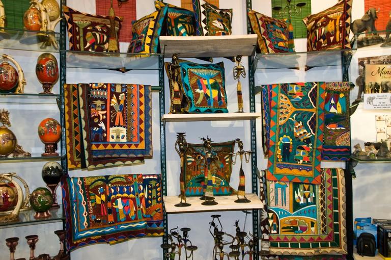 tribal art in craft shop, Kruger, south africa