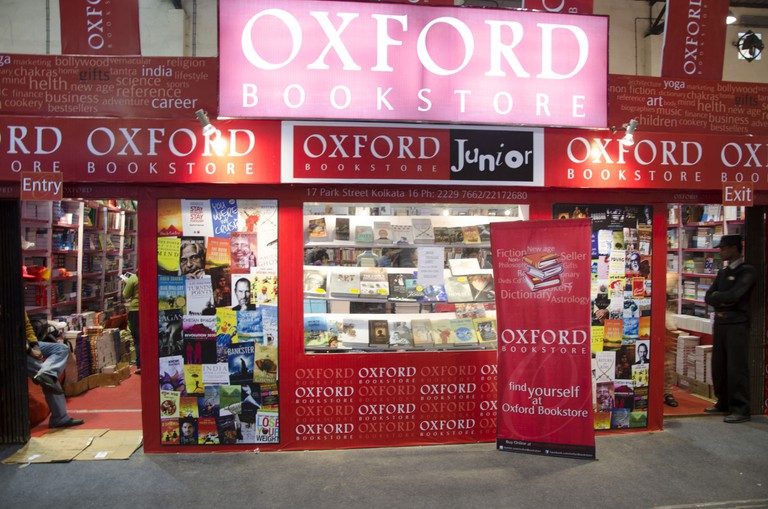 Book store shop stall Oxford company kolkata West Bengal India