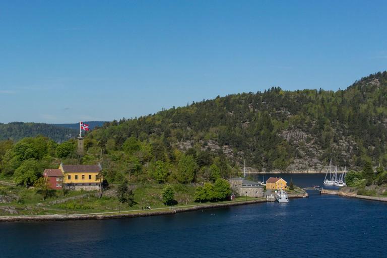 castle Oscarsborg in Oslofjord