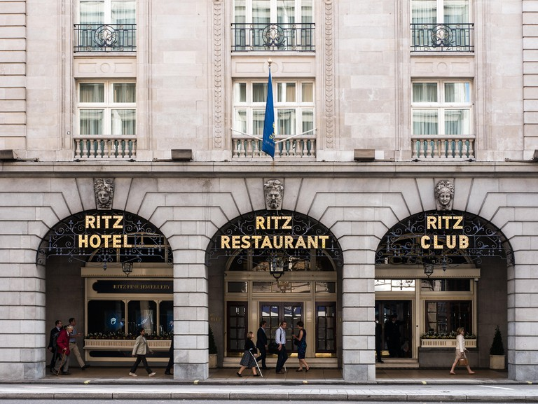 Ritz hotel and restaurant, London.