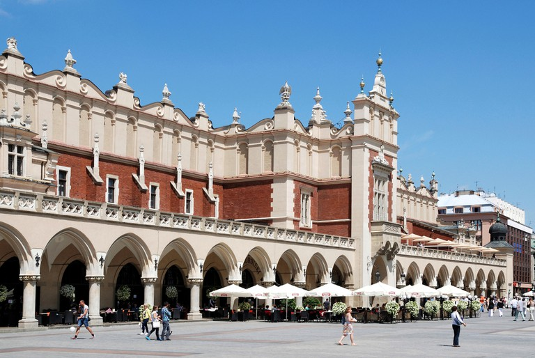 Cloth Hall on the Market square of Krakow in Poland.