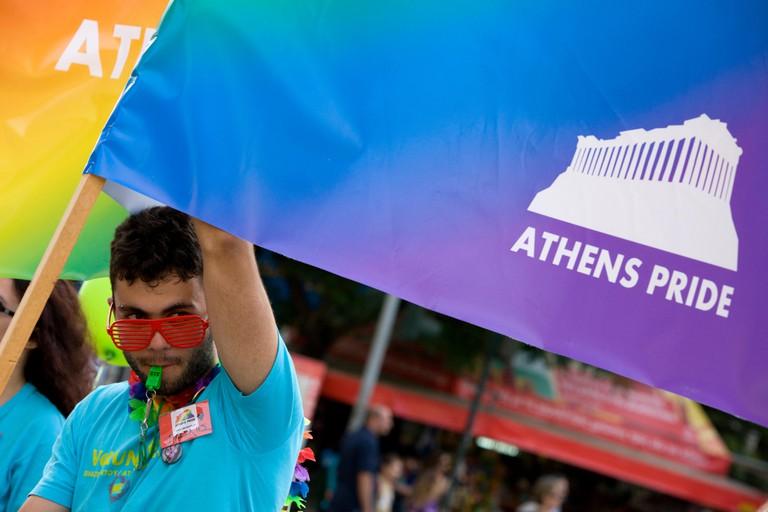 Gay pride parade in Athens