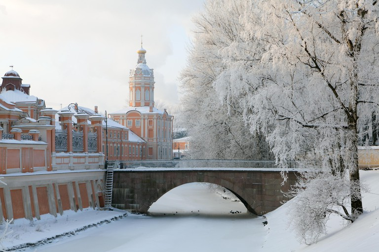 Saint Alexander Nevsky Lavra or Saint Alexander Nevsky Monastery. St. Petersburg. Russia.