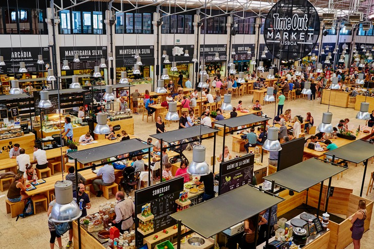 Portugal, Lisbon, food court Time Out Mercado da Ribeira
