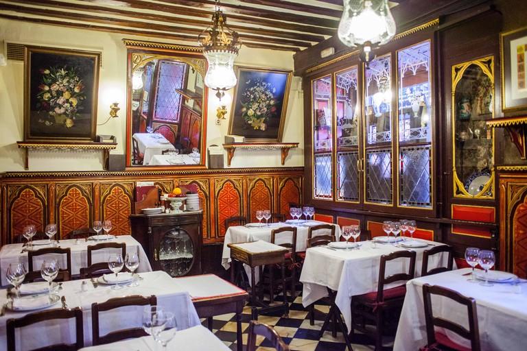 Sobrino de Botin restaurant, calle Cuchilleros 17. Madrid, Spain.
