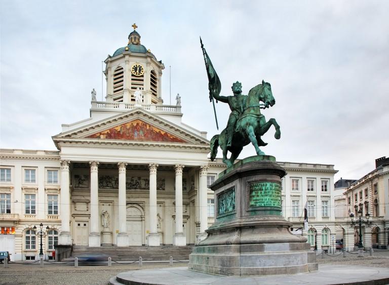 Statue of Godfried of Bouillon in Brussels. Belgium