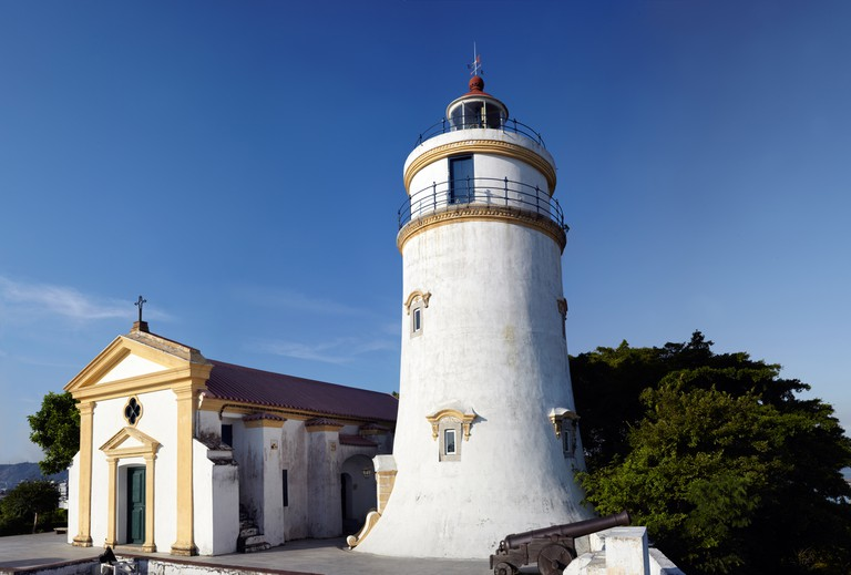 Lighthouse and Chapel at Guia Fort in Macau, China