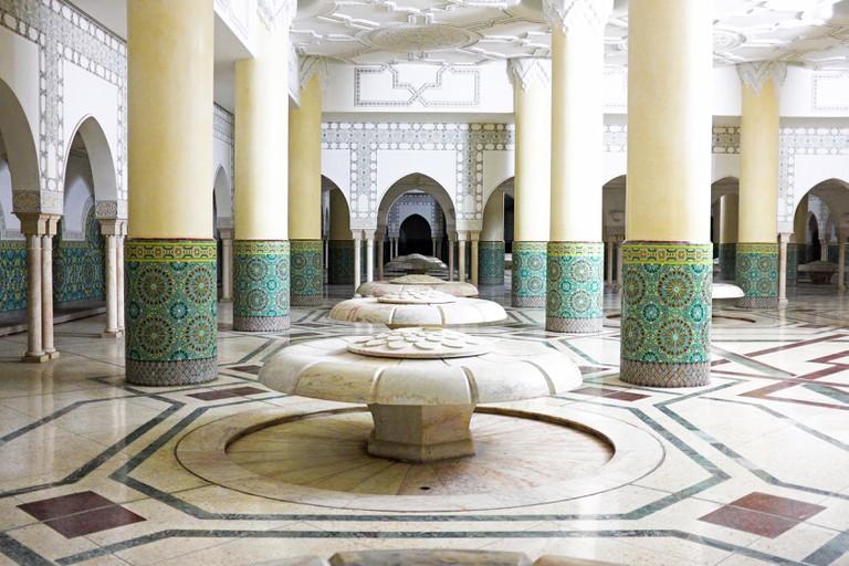 Interior of a Moroccan hammam