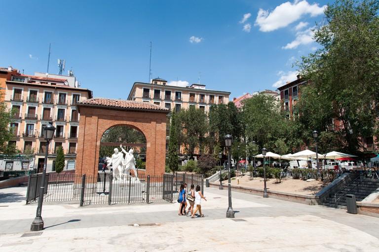 Plaza del Dos de Mayo, Malasaña district, Madrid, Spain