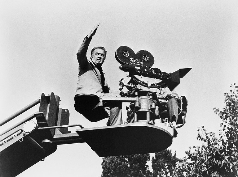 Federico Fellini Directing from Camera