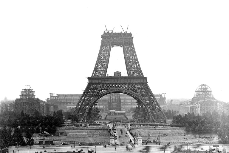 Construction of the Eiffel Tower. Paris, July, 188