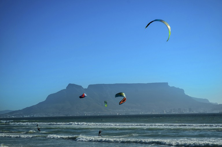 Many Kite Surfing Sails.