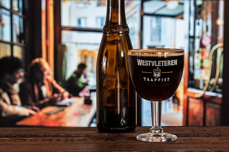 Glass with trappist Westvleteren - best beer in the world