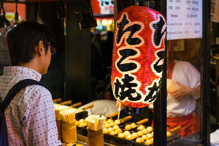 Takoyaki shop in Osaka
