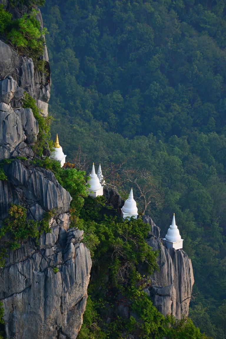 Wat Chalermprakiat Prajomklao Rachanusorn beautiful Thai Temple landscape, Lampang, North of Thailand.