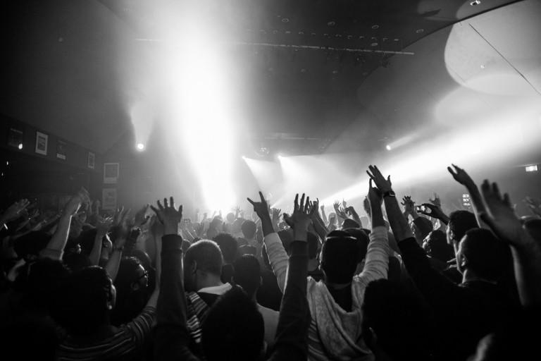 Crowd Enjoying At Nightclub, Sydney