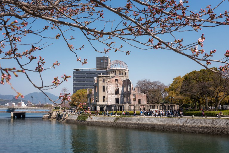 The Hiroshima Peace Memorial, in Hiroshima, Japan.