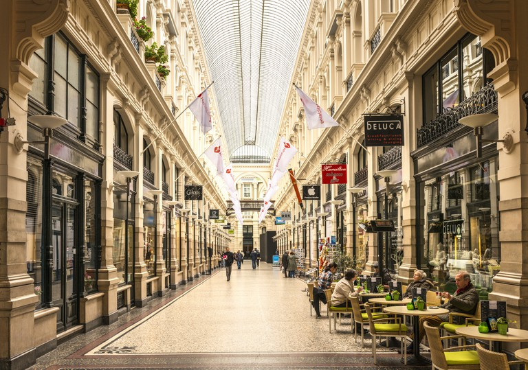 Shopping arcade in The Hague, Netherlands.