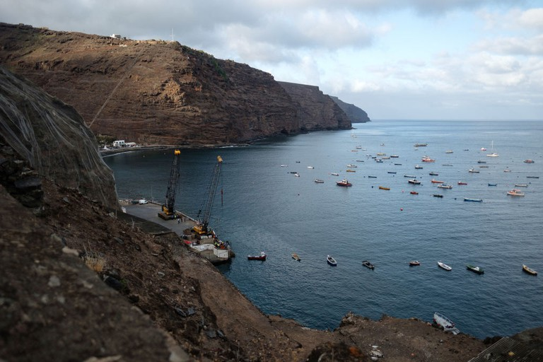 Lives Of The Saints On The Island Of St Helena - Jamestown harbour