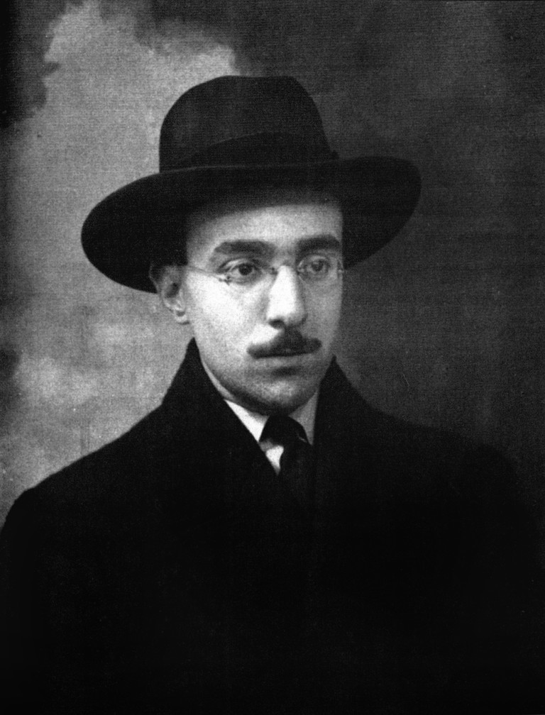 Fernando Pessoa, 1888-1935, pictured at the age of 26 years old in 1914